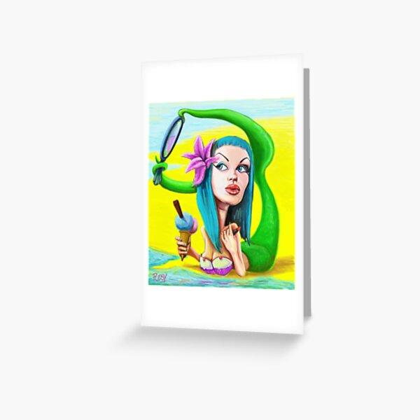 Mermaid pin up Greeting Card