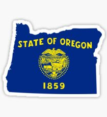 Oregon | Flag State | SteezeFactory.com Sticker