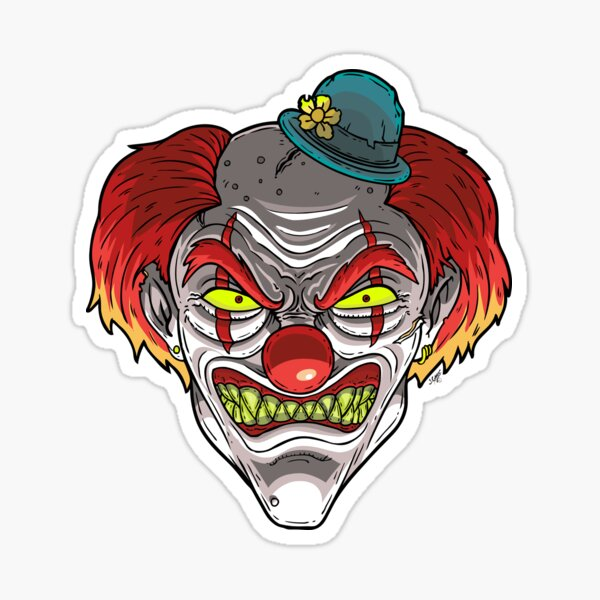 Badass Clown Sticker