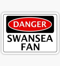 DANGER SWANSEA CITY, SWANSEA FAN, FOOTBALL FUNNY FAKE SAFETY SIGN Sticker