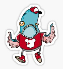 Squidmir Blue  Sticker