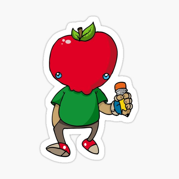 Apple Jakk Red Sticker