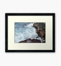 Overlook at the end of the Chain of Craters Road Framed Print