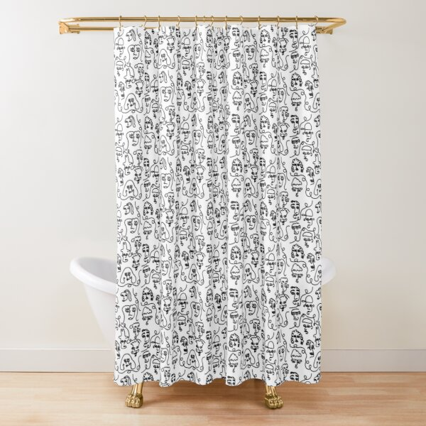 Curvy Faces Shower Curtain