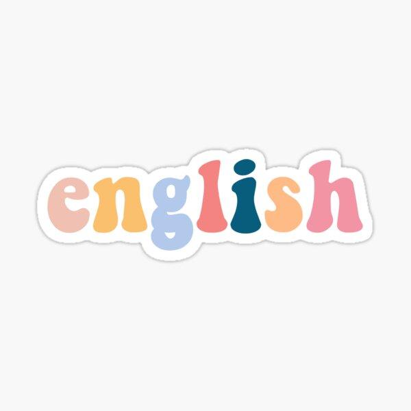 Inglés Pegatina