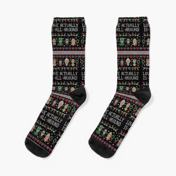 Love Actually Ugly Christmas Sweater Socks