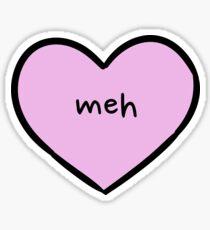 Sassy Heart–meh–Mauve Sticker