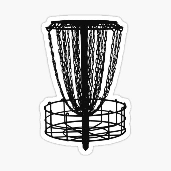 Disc Golf Basket Sticker