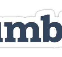 Tumblr Blue Sticker