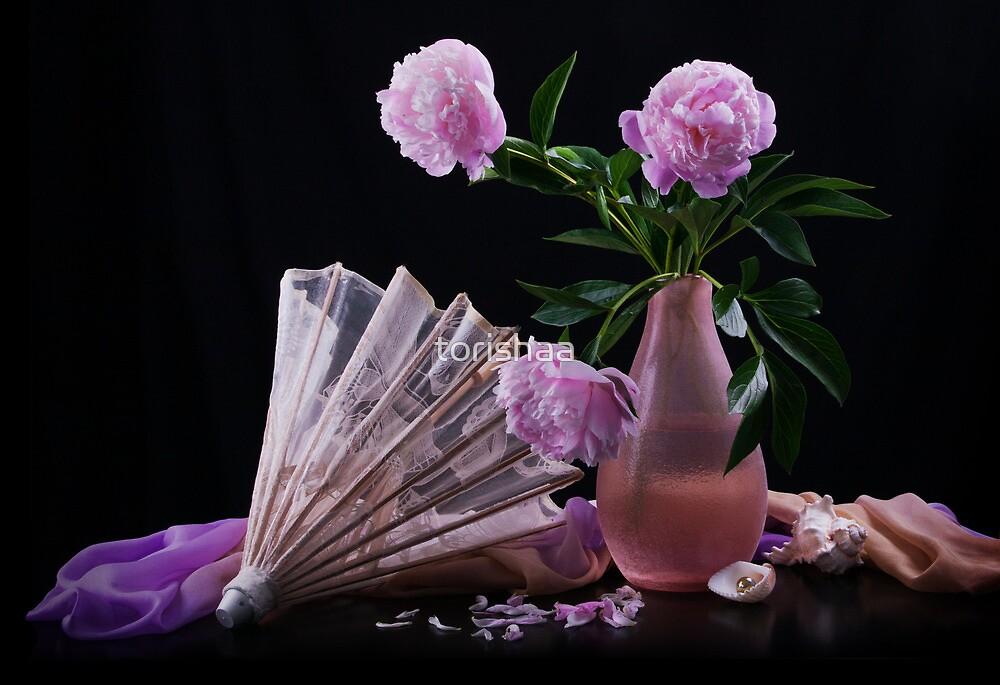 Still life with beautiful pink peonies by torishaa