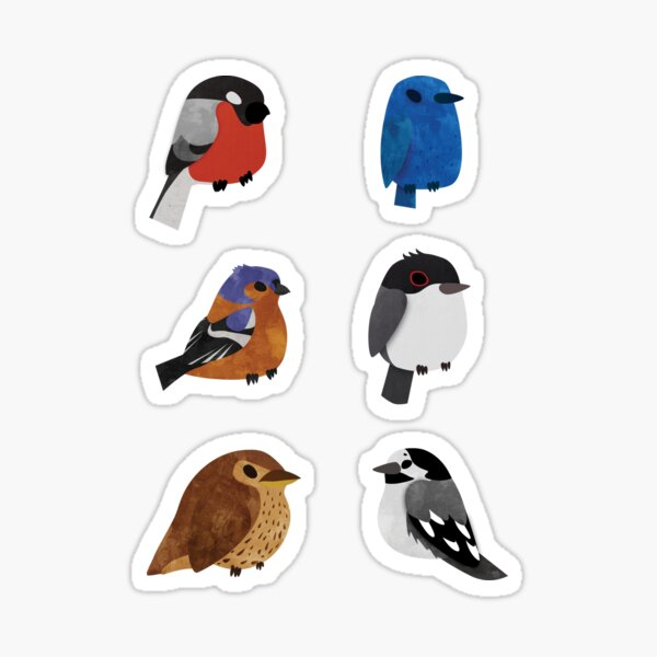 Beautifully Designed Bird Breed Sticker Set Sticker
