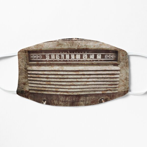 Classic Oldies Fan - Old Vintage Radio photography Flat Mask