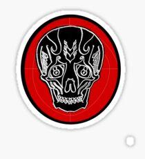 Sad Skull Tee Sticker