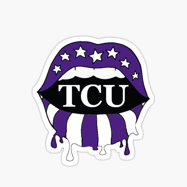 TCU lips Sticker