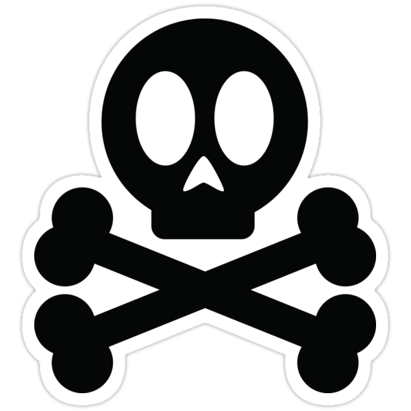 Quot Poison Skull And Cross Bones Quot Stickers By Mehdals Redbubble