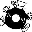 Mr. Record Sticker by jivetime