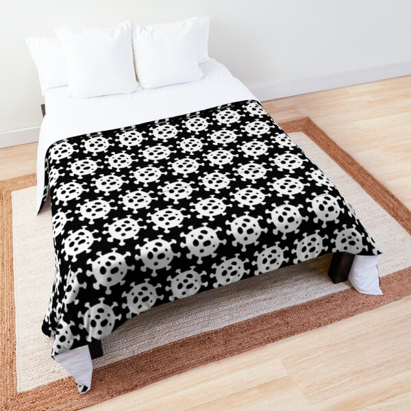 Corona-Cluster (Black & White) Comforter