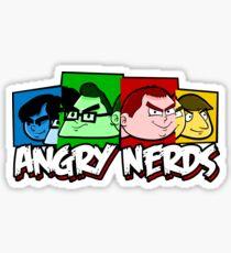 Angry Nerds Sticker