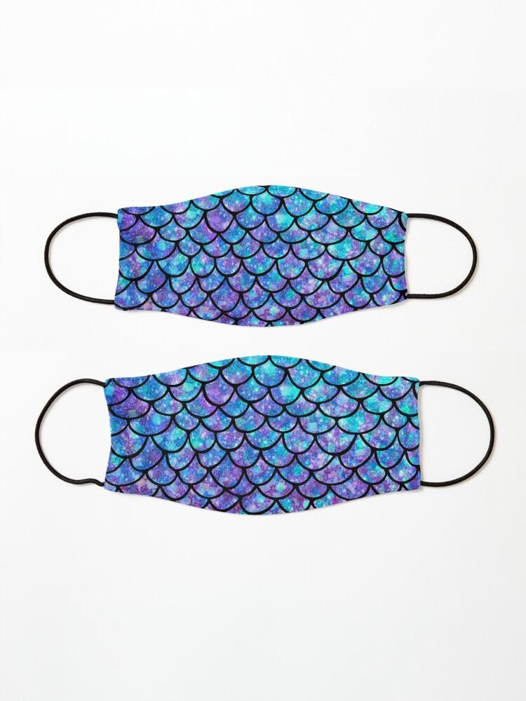 Alternate view of Purples & Blues Mermaid scales Mask