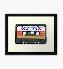 80s MIX - Music Cassete Tape Framed Print