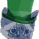 Classy Cat  (Blue/GreeN) by Mehdals