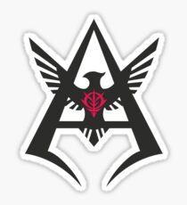 Pegatina Char Aznable - Insignia personal NEGRO
