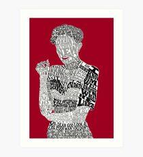 Irene Adler Typography Art Art Print