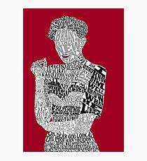 Irene Adler Typography Art Photographic Print