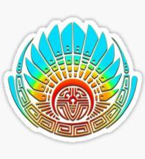 Mayan mask, crop circle, Quetzalcoatl Sticker