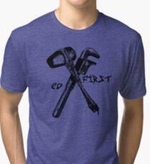 ED first - EV Tattoo Mashup Tri-blend T-Shirt