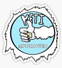 Yeti approved Sticker