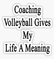 Coaching Volleyball Gives My Life A Meaning  Sticker
