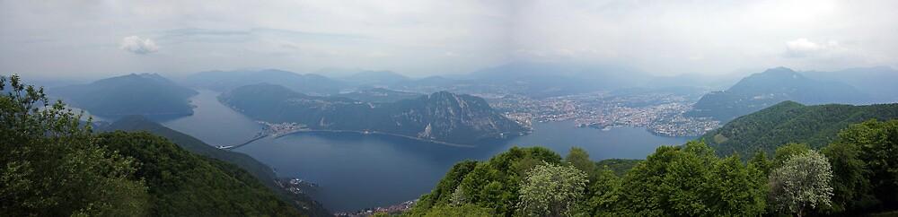 Lake Lugano from Monte Sighignola, Ticino, Switzerland by bartfrancois