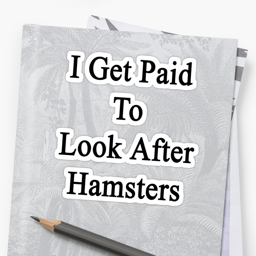 I Get Paid To Look After Hamsters by supernova23