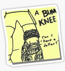 Bum Knee Sticker