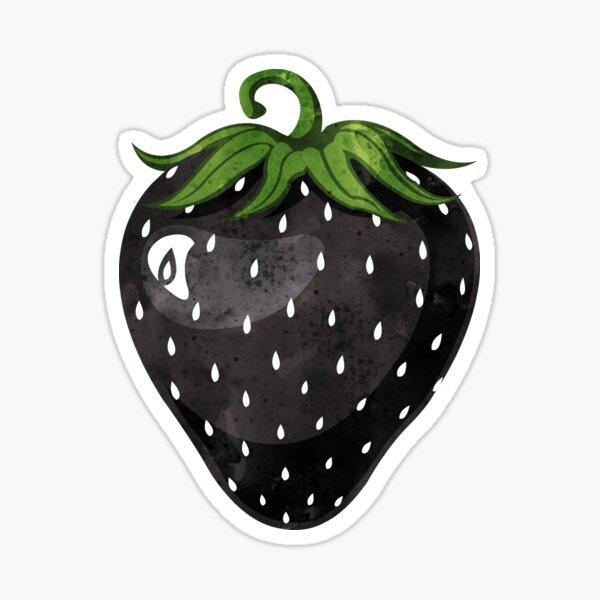 Black Strawberry Sticker