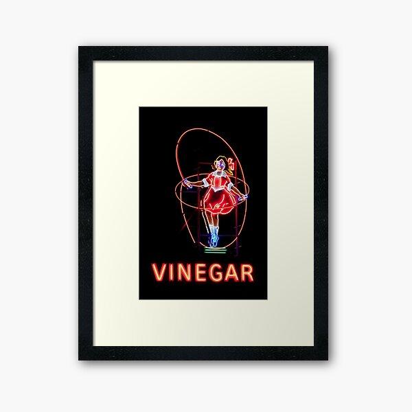 Neon Sign, Skipping Girl Vinegar, Melbourne, Australia  Framed Art Print