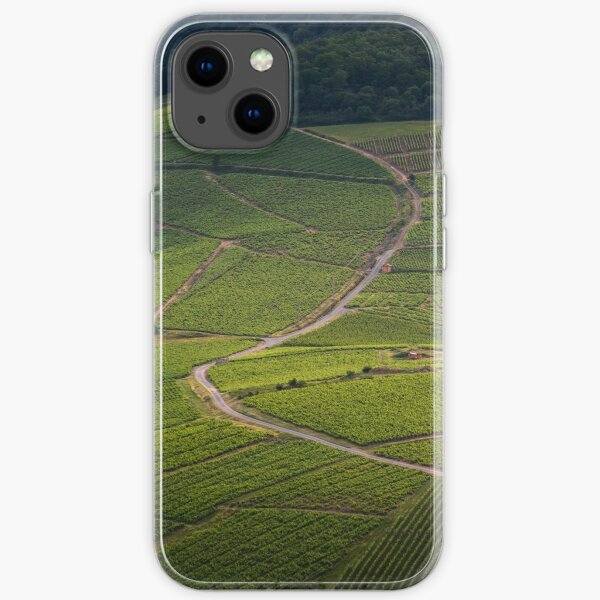 Landscape of vineyards of the Beaujolais iPhone Soft Case