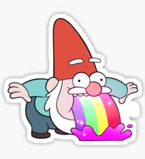 Pegatina Rainbow Vomiting Gnome