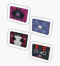 Decepticon Cassettes (stickers, set I) / pillow / tote bag Sticker