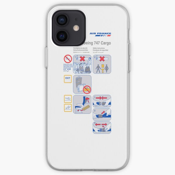 Carte de sécurité Air France Boeing 747 Cargo Coque souple iPhone