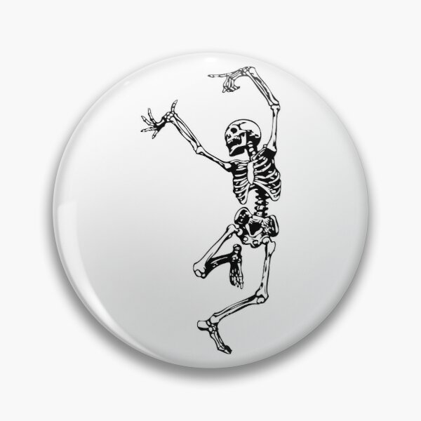 Dancing Skeleton | Day of the Dead | Dia de los Muertos | Skulls and Skeletons | Black and White |  Pin