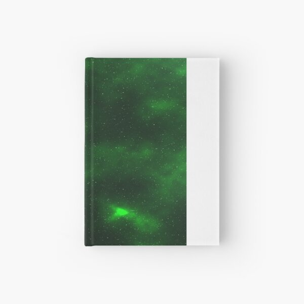 Green Galaxy Hardcover Journal