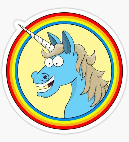 Blue Unicorn Sticker