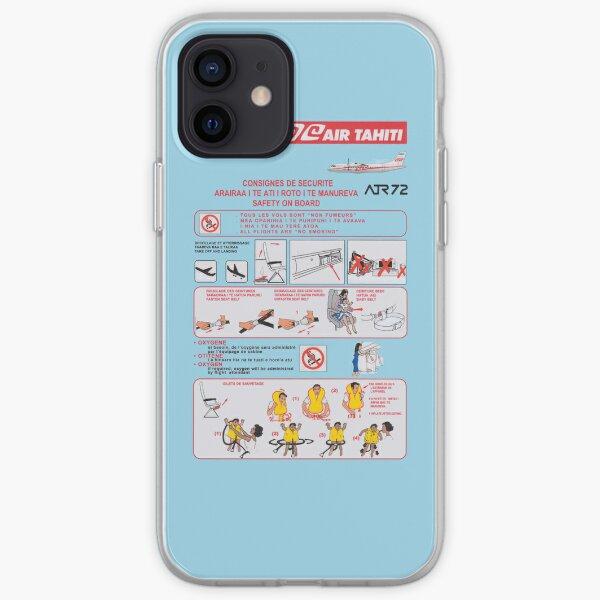 Carte de sécurité Air Tahiti ATR72 Coque souple iPhone