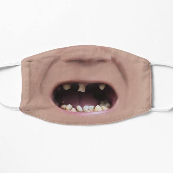 Hill BIlly Bubba Teeth Photo Realistic Men's  Mask