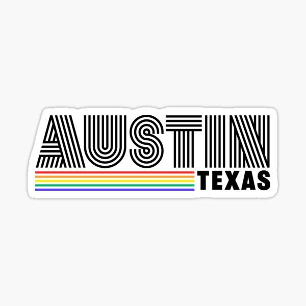 Austin Texas Stripes LGBTQ Pride Sticker