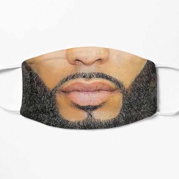 Black Beard Photo Realistic Men's  Flat Mask