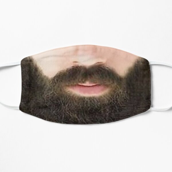Hipster Black Beard Photo Realistic Men's  Mask