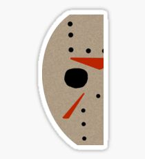 Minimal Jason Voorhees Sticker